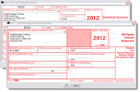 Form 1098 Mortgage Interest 2014 And 1098 Mortgage Interest